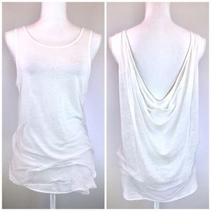 {HELMUT LANG} Draped Low Back Tank Top